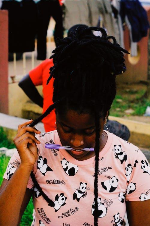 คลังภาพถ่ายฟรี ของ กำลังอ่านหนังสือ, ความชัดลึก, คาริบเบียน, ชาวไนจีเรีย