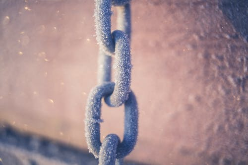 Free stock photo of chain, close-up, dirty, frost