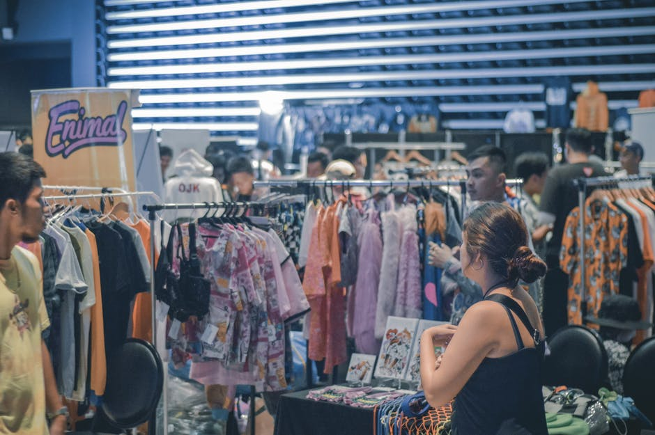 Photo of people shopping