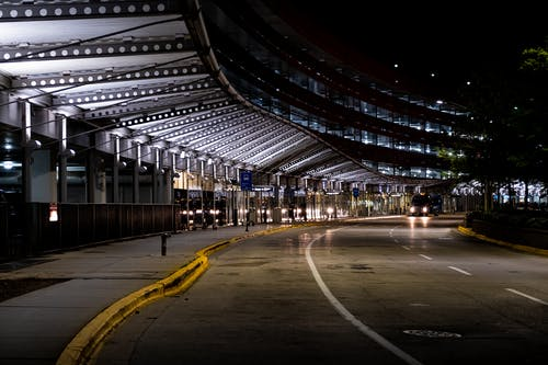 Photo of O'Hare Airport During Nighttime