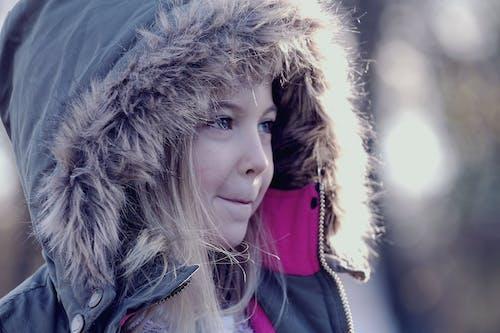 Girl Wearing Parka Jacket