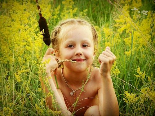 Foto d'estoc gratuïta de bebè, bonic, bufó, camp