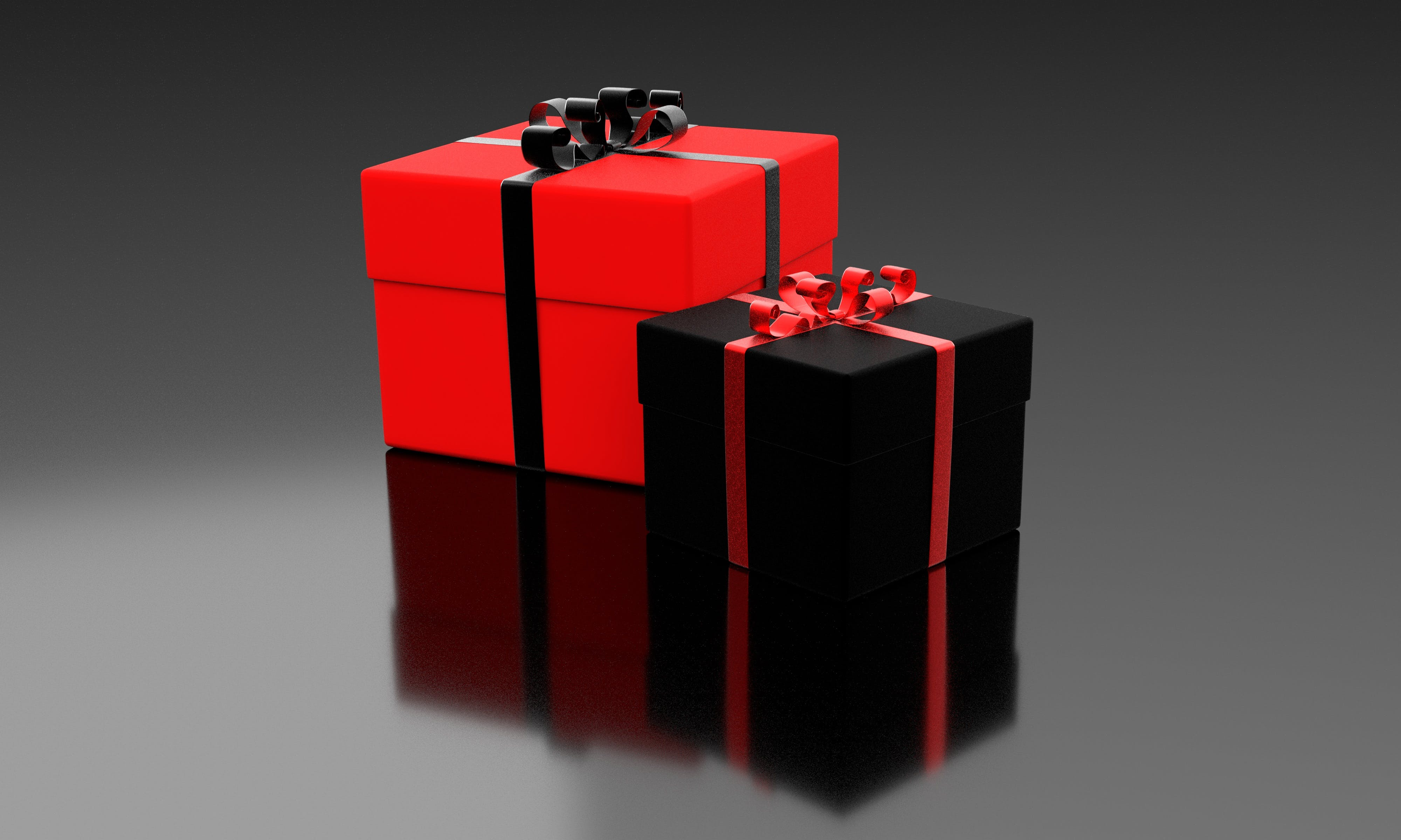 Red and Black Gift Boxes
