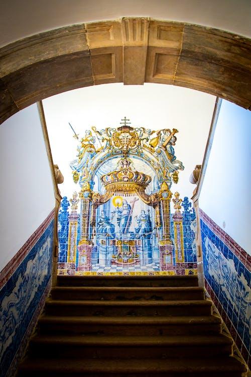 Blue Concrete Stair