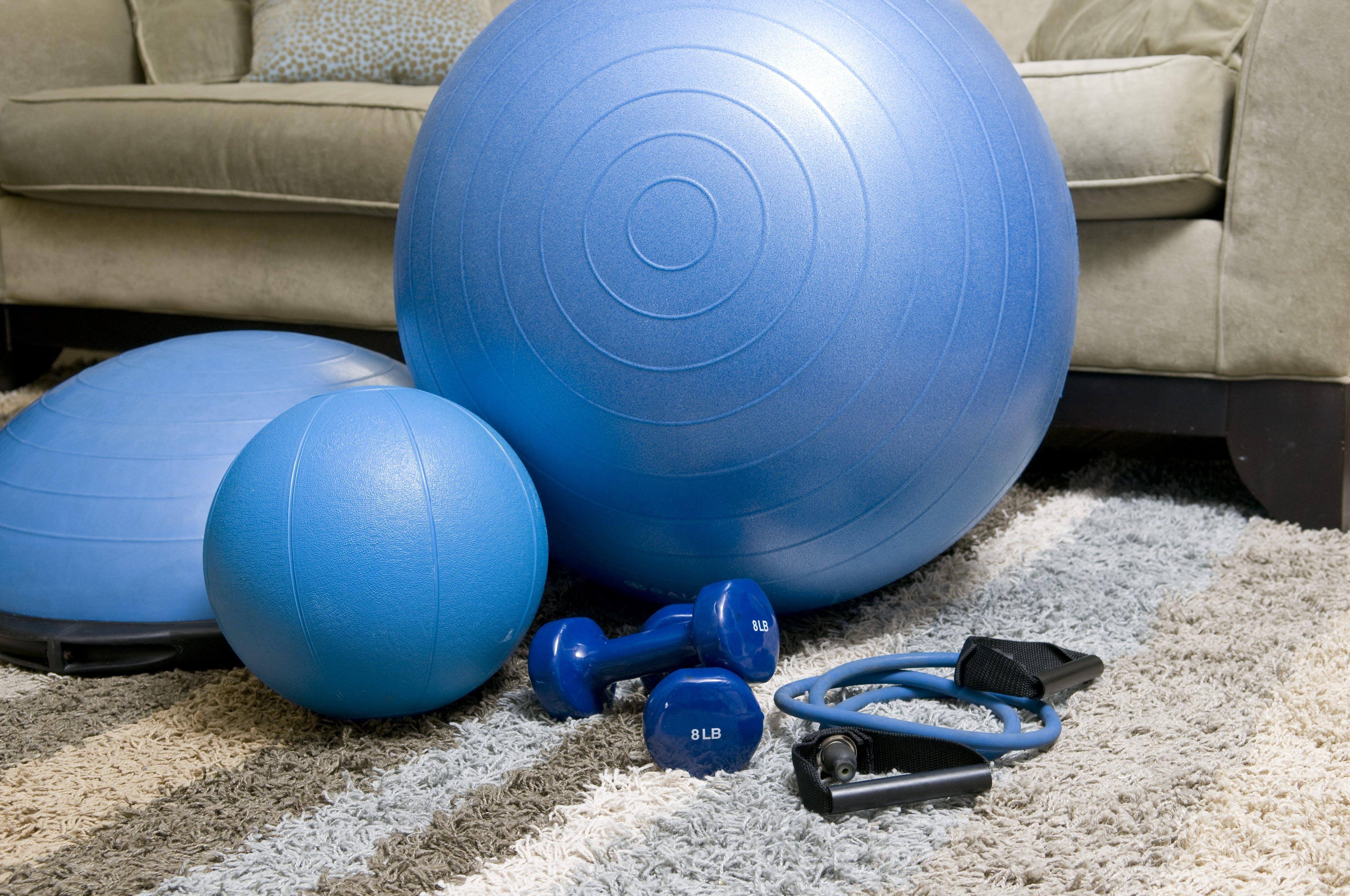 blue fitness equipment, equipment, fitness