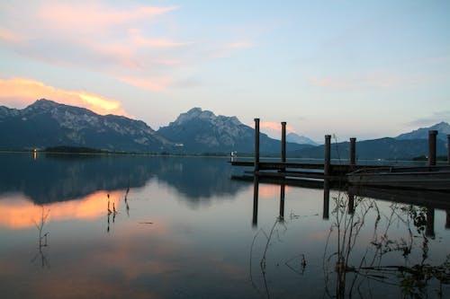 南阿尔卑斯山, 夏天, 巴伐利亞, 日落 的 免费素材照片
