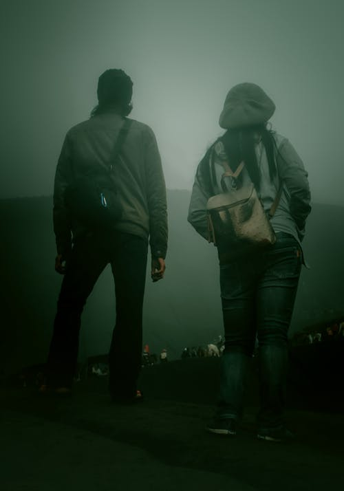 Free stock photo of fog, man, woman
