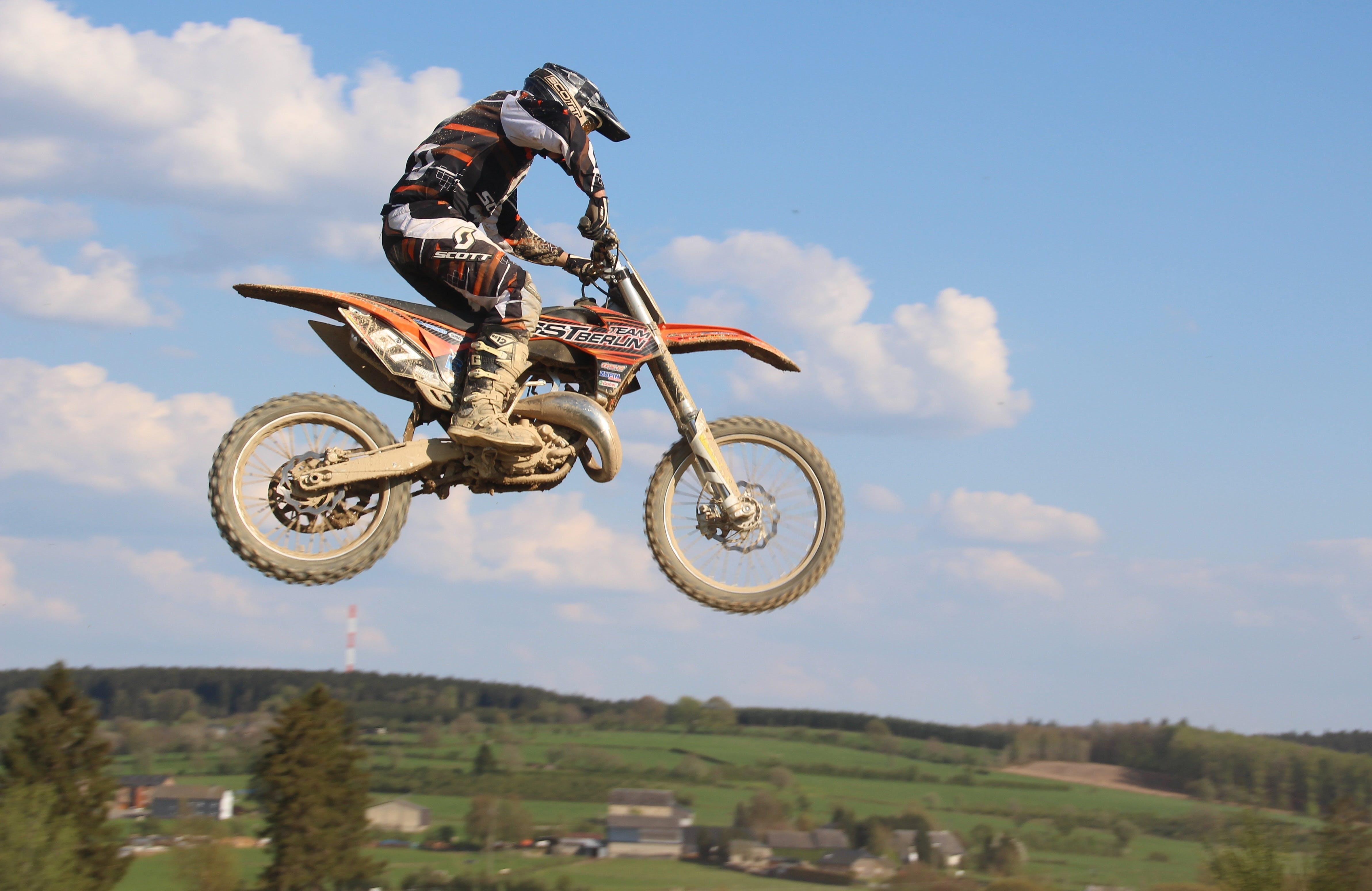Free stock photo of sport, cross, jump, power