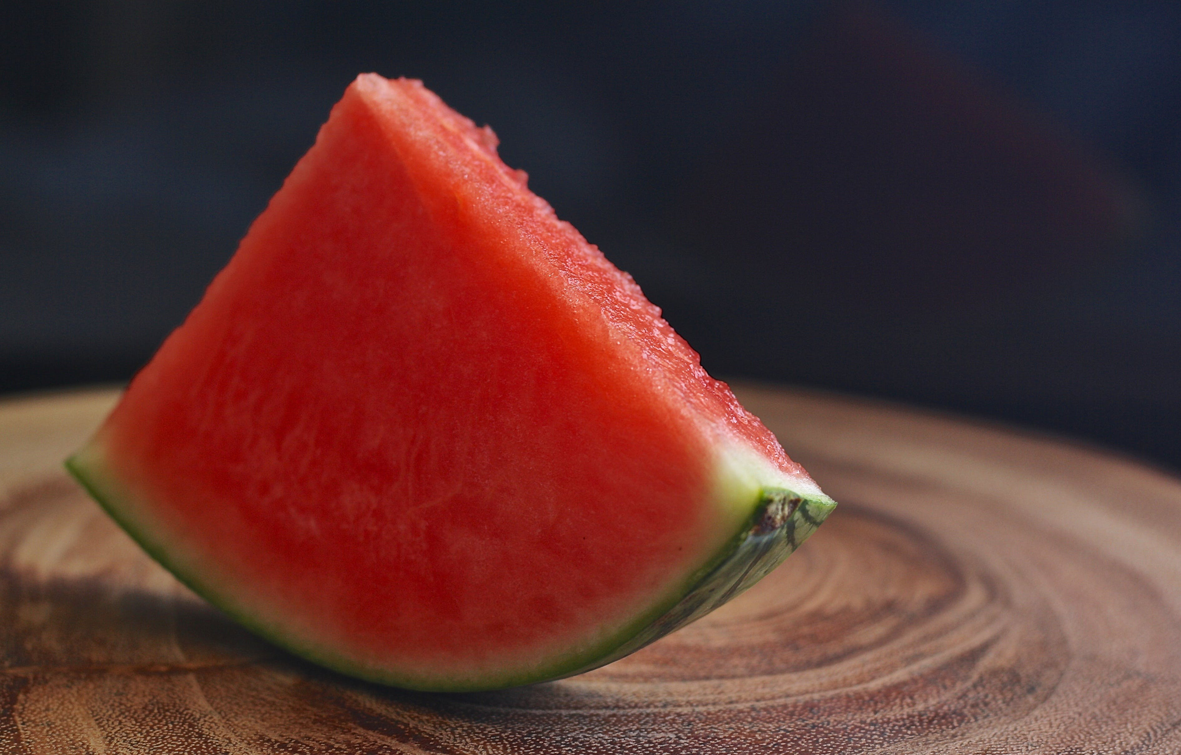 Shallow Focus of Sliced Watermelon