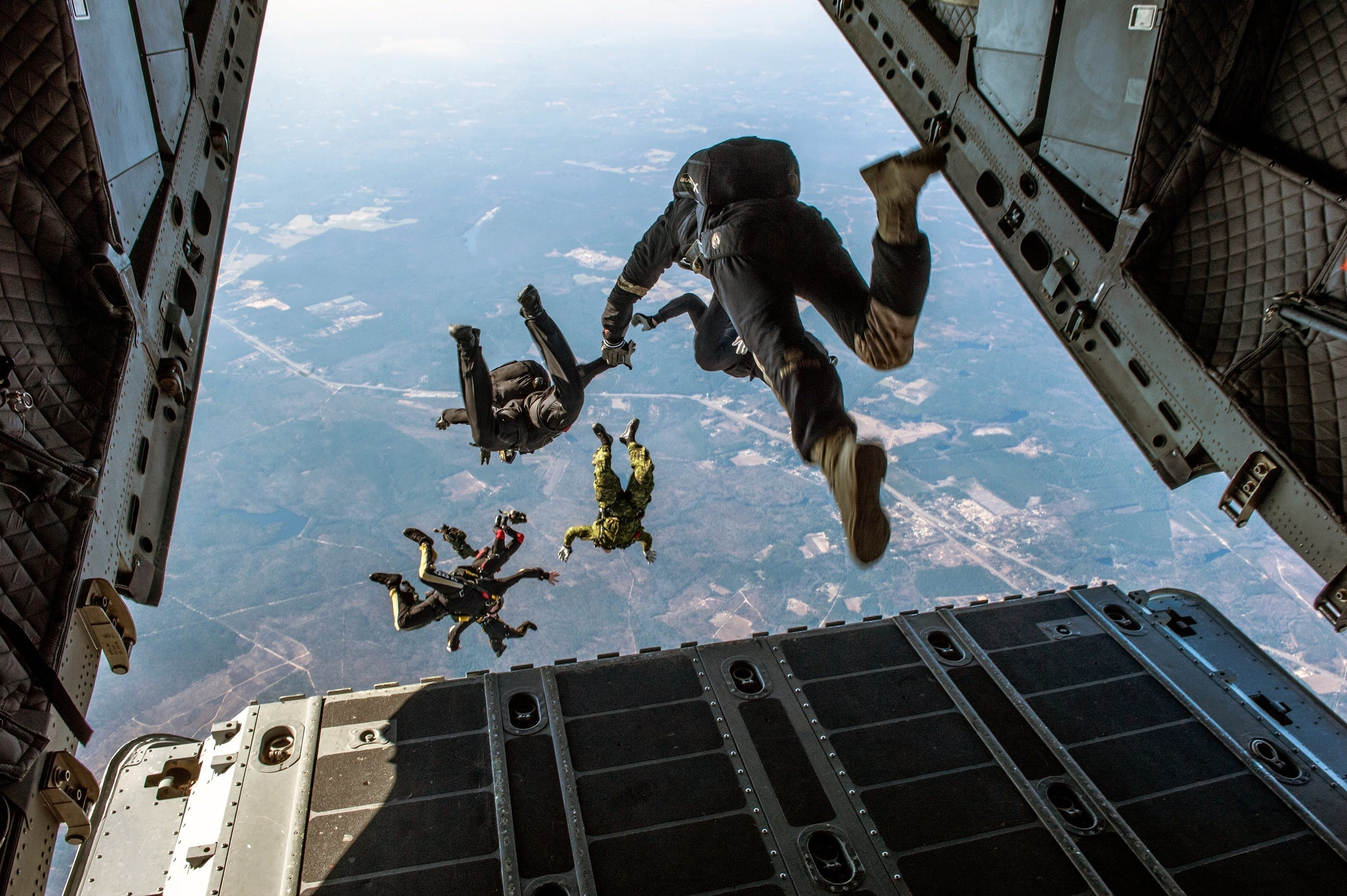 Free stock photo of danger, jumping, military, para-rescuers