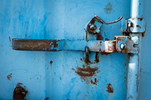 Free stock photo of blue, metal, old, rusty