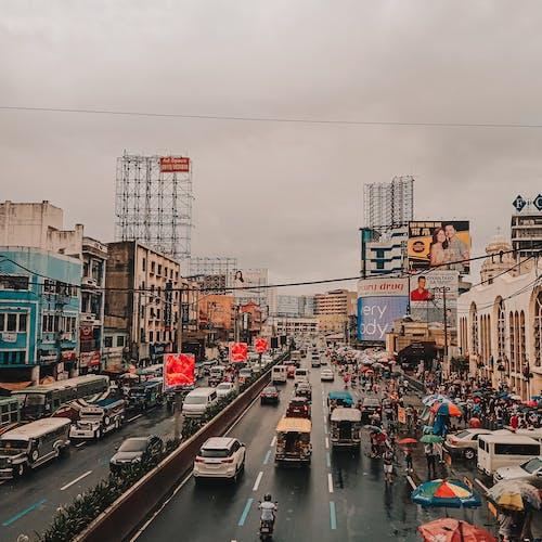 Immagine gratuita di auto, città, Filippine, manila