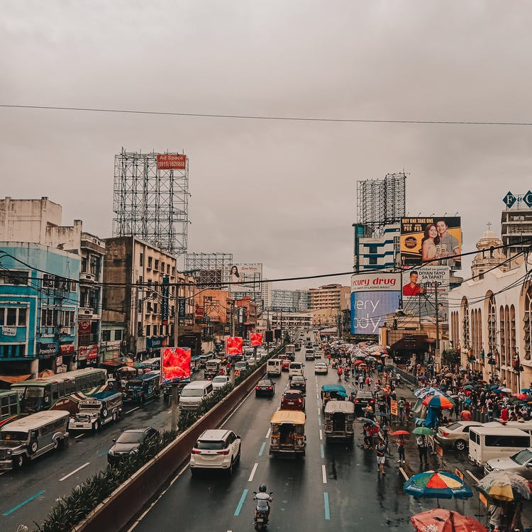 A busy street in Manila, Philippines - Travel to Manila