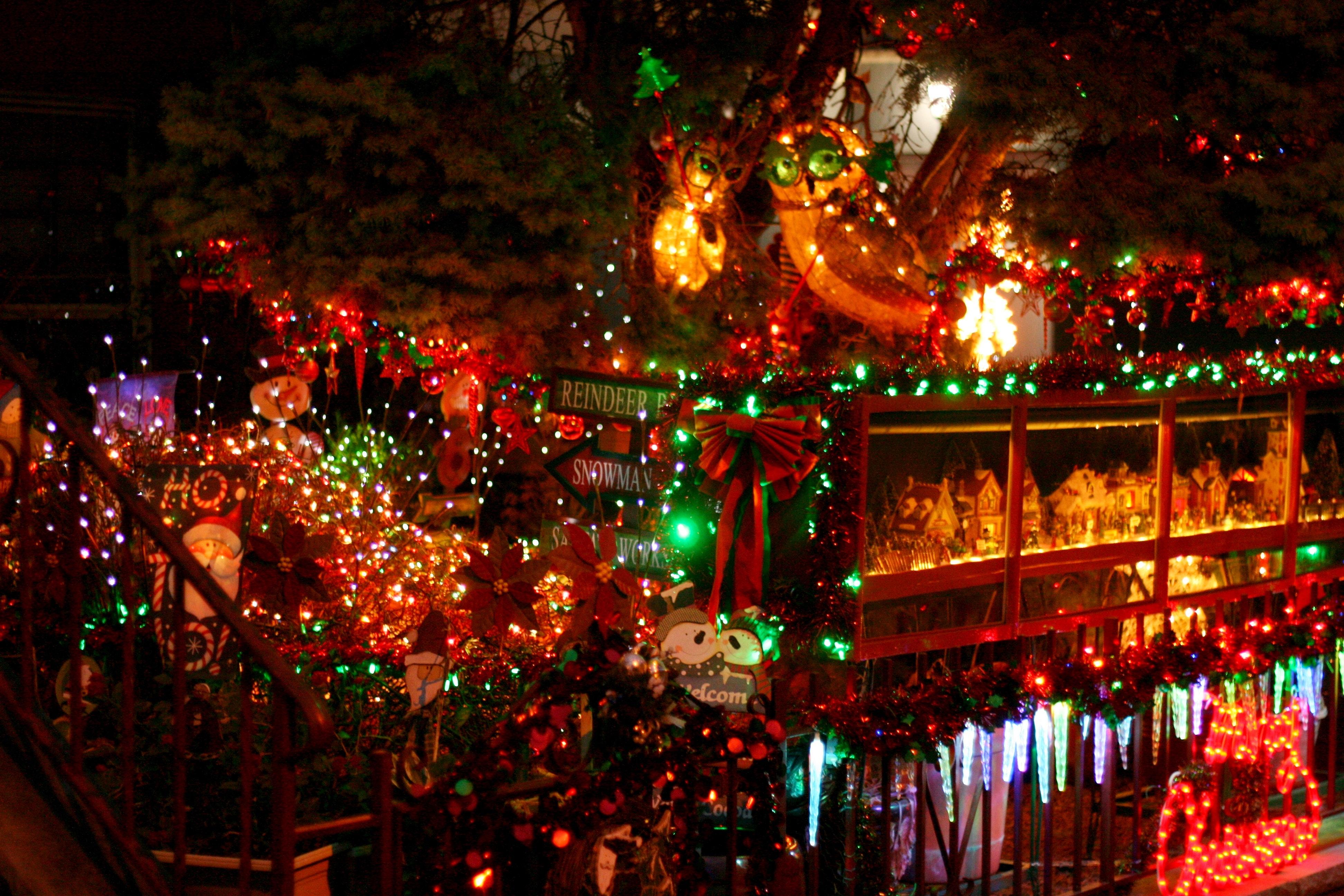 Free Christmas Lights.Free Stock Photo Of Christmas Christmas Lights Neighborhood