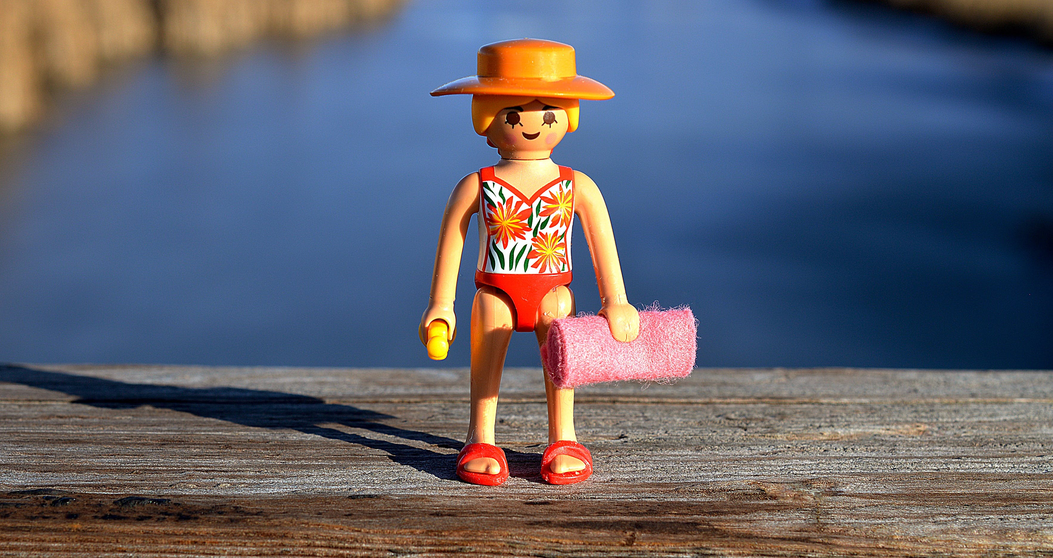 Free stock photo of bathing suit, holiday, lake, lego