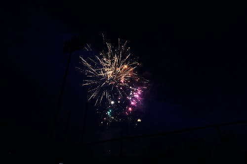 Low-Angle Photo of Fireworks Display