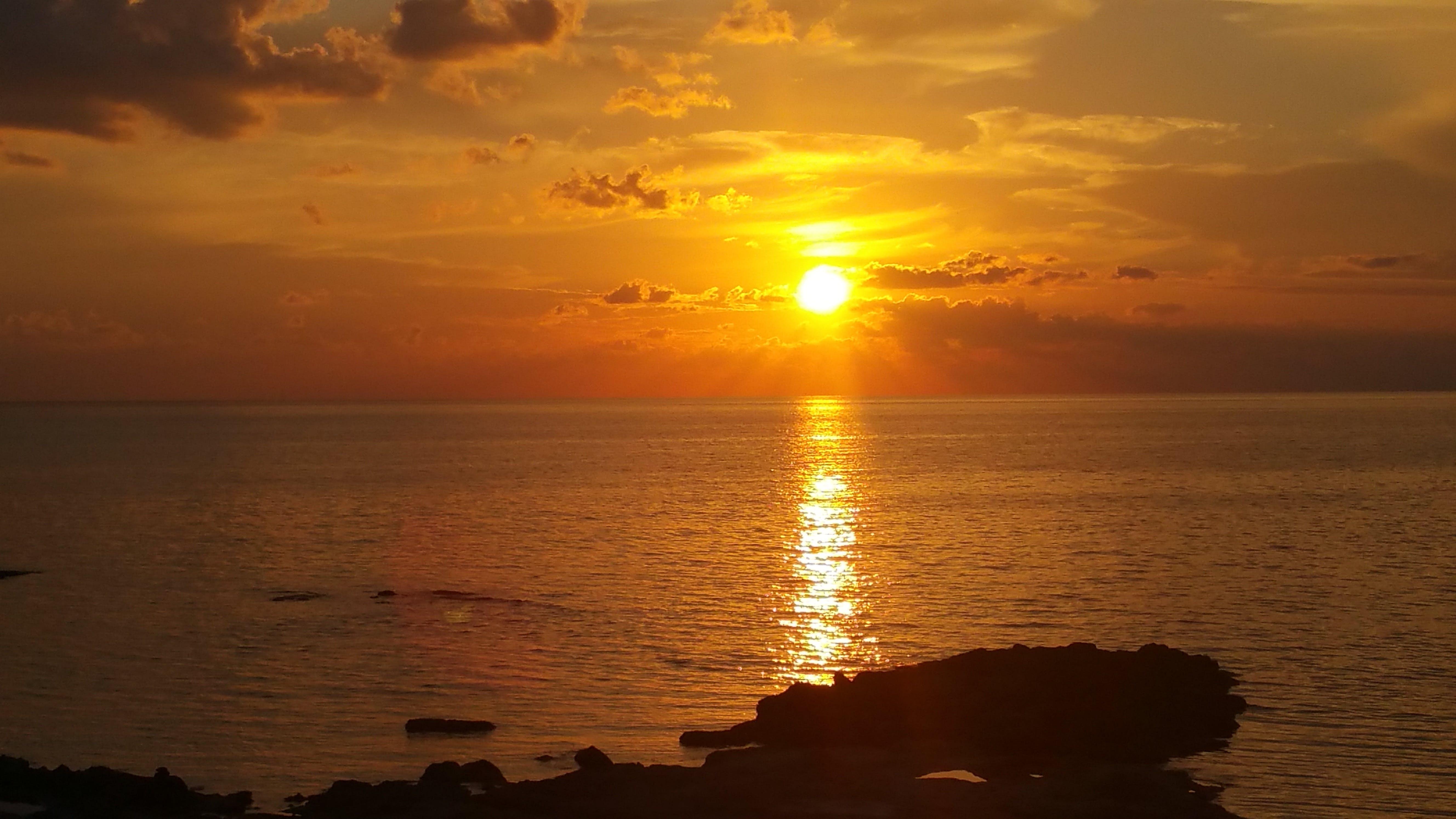 Free stock photo of sea, sunset, beach, holiday