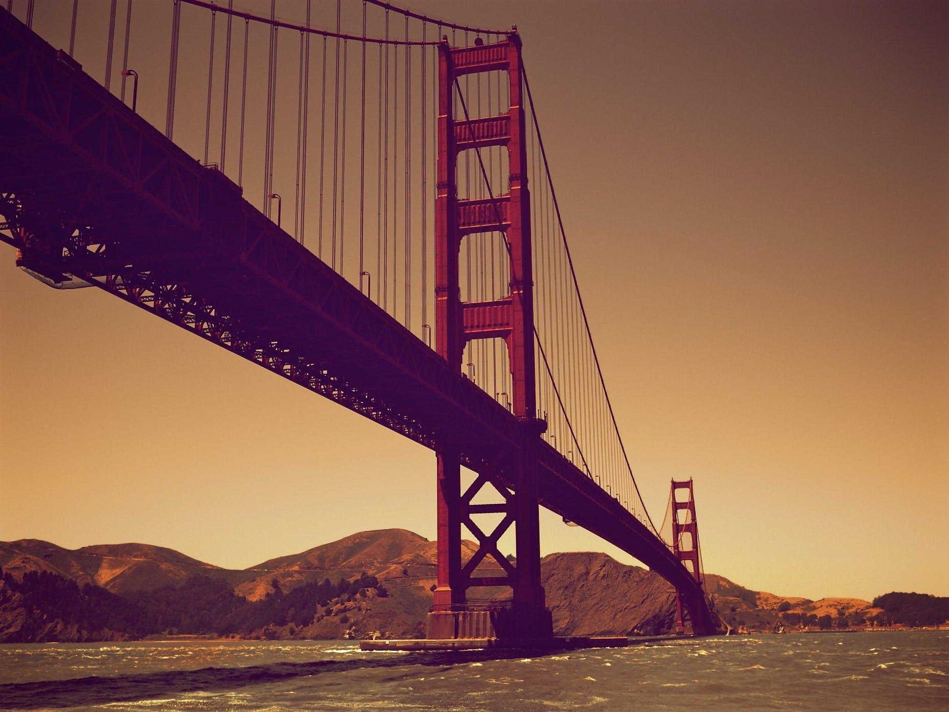 architecture, bridge, dawn