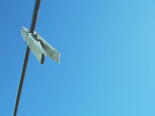 Free stock photo of blue sky, clothes line, housework, peg