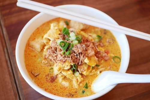 Free stock photo of asian food, curry, laksa, noodles