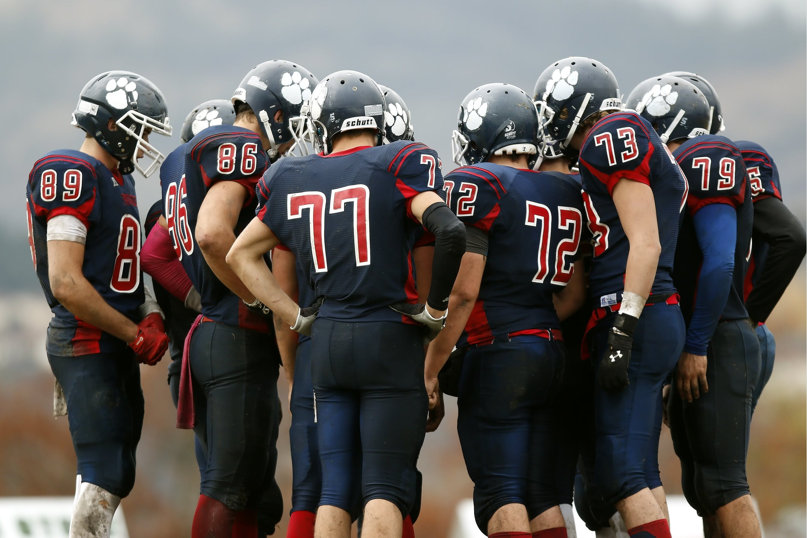 Red and Blue Football Jerseys
