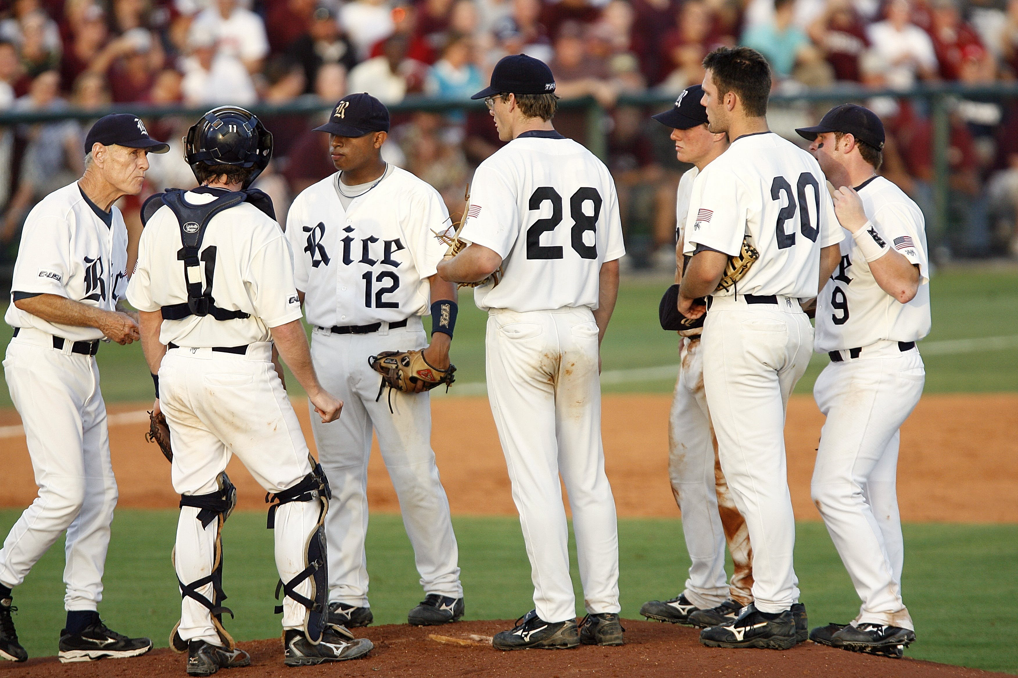 Group of Baseball Players on Ballpark