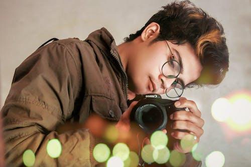 Kostenloses Stock Foto zu adobe photoshop, bokeh, brille