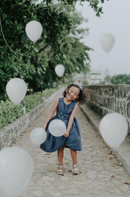 balóny, dítě, hezký