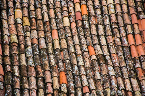 Close-up Photo of Old Roof Tiles