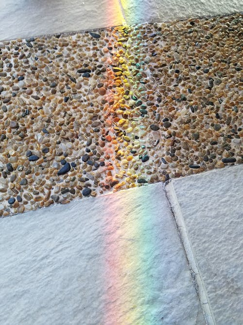 Refracting Light on The Stone Floor