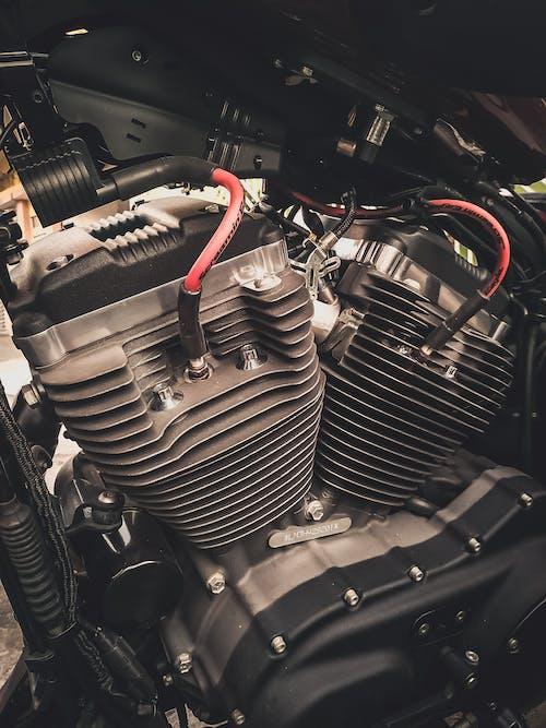 Close-up Photo of Motorcycle Engine