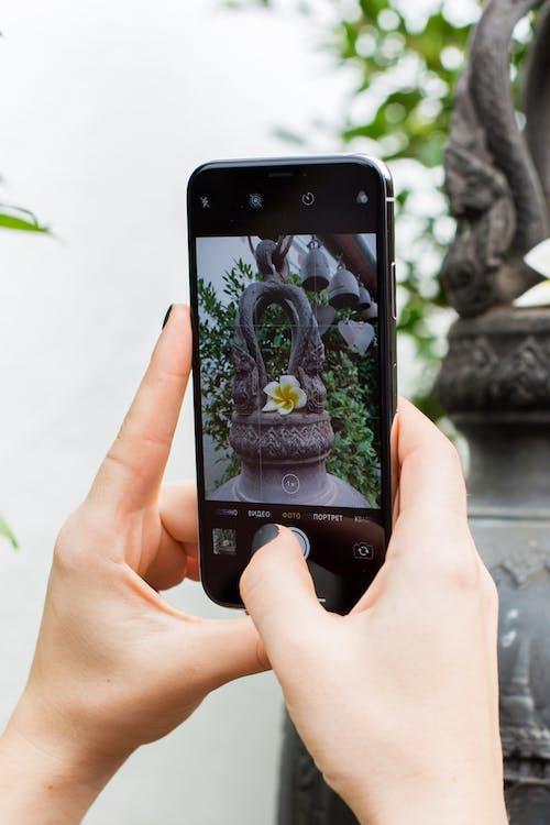 chytrý telefon, dotyková obrazovka, focení