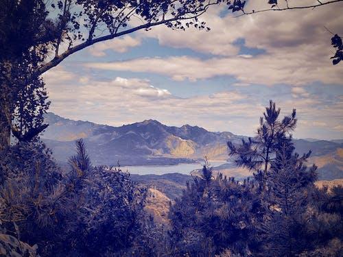 경치, 오래된 영화 느낌, 호수와 하늘의 무료 스톡 사진