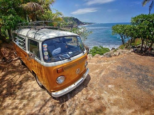 Photos gratuites de caravane, ciel bleu, été