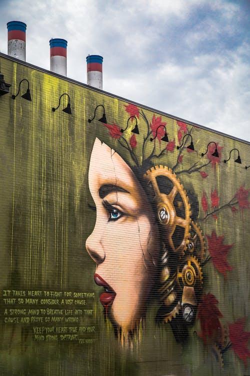 Δωρεάν στοκ φωτογραφιών με artsy, detroit, street art, απεικόνιση