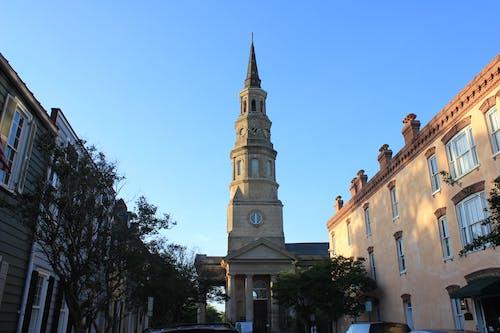 คลังภาพถ่ายฟรี ของ ท้องฟ้าสีคราม, โบสถ์