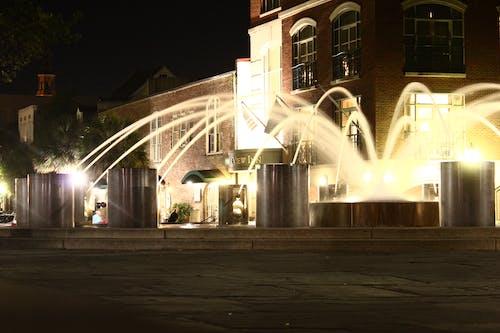คลังภาพถ่ายฟรี ของ น้ำพุ, ไฟกลางคืน