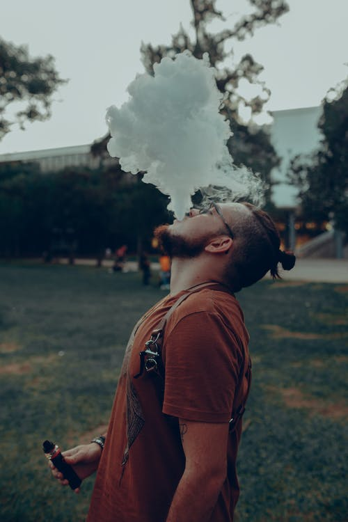 Photo of Man Vaping