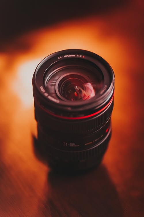 Black Zoom Lens