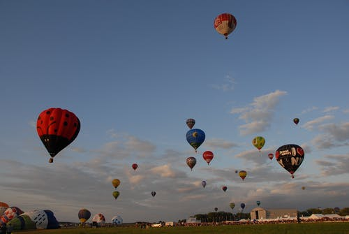 Low Angle Photography of Hot Air Balloon Lot