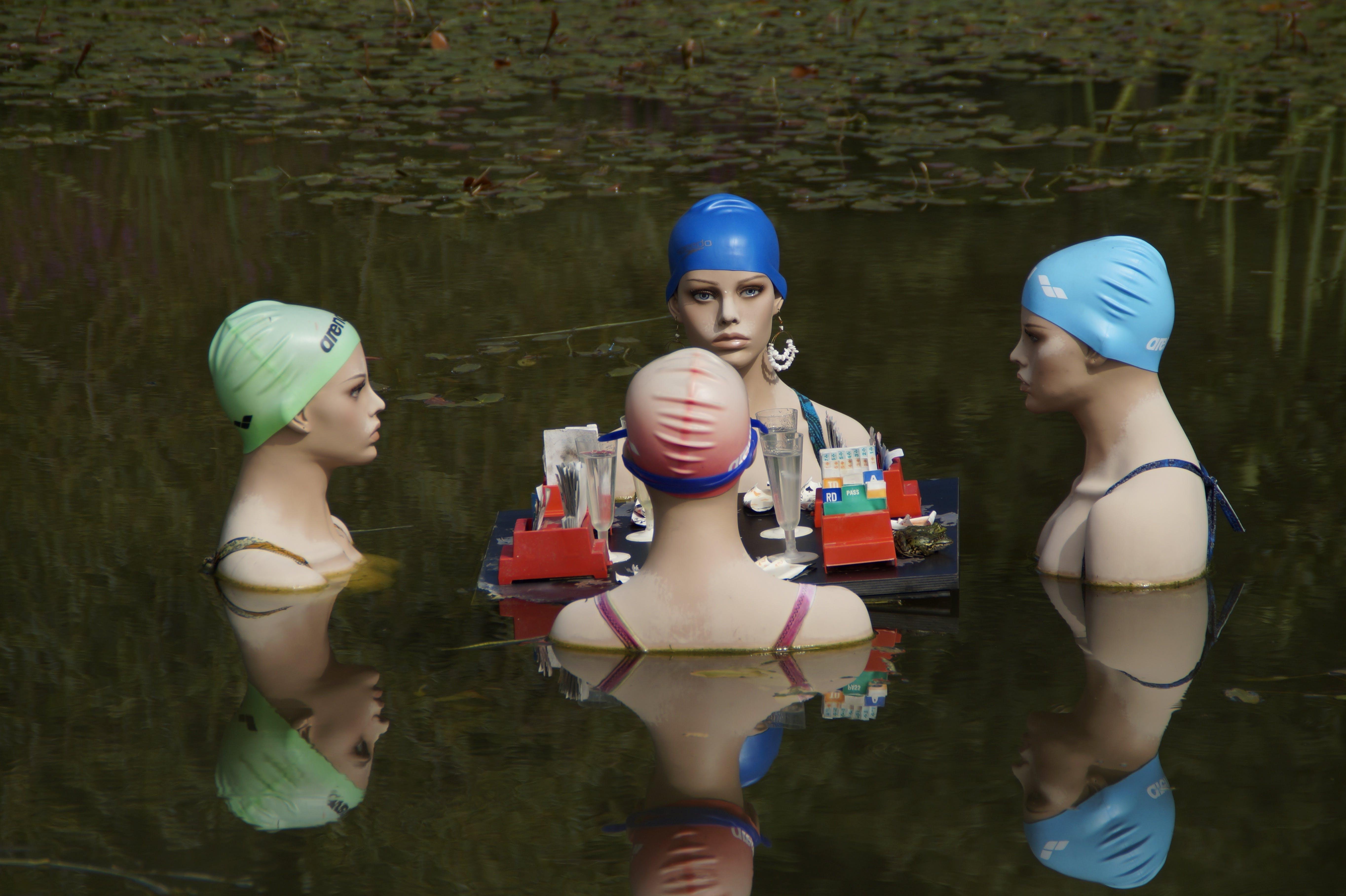 Free stock photo of art, water, women, lake