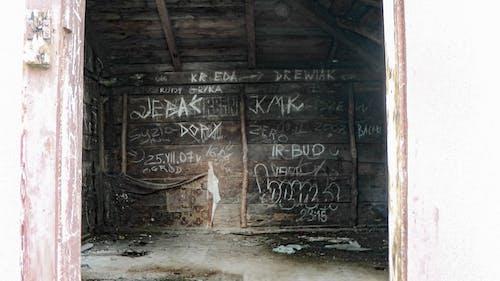 Foto d'estoc gratuïta de cabana, encerar, graffiti, horripilant