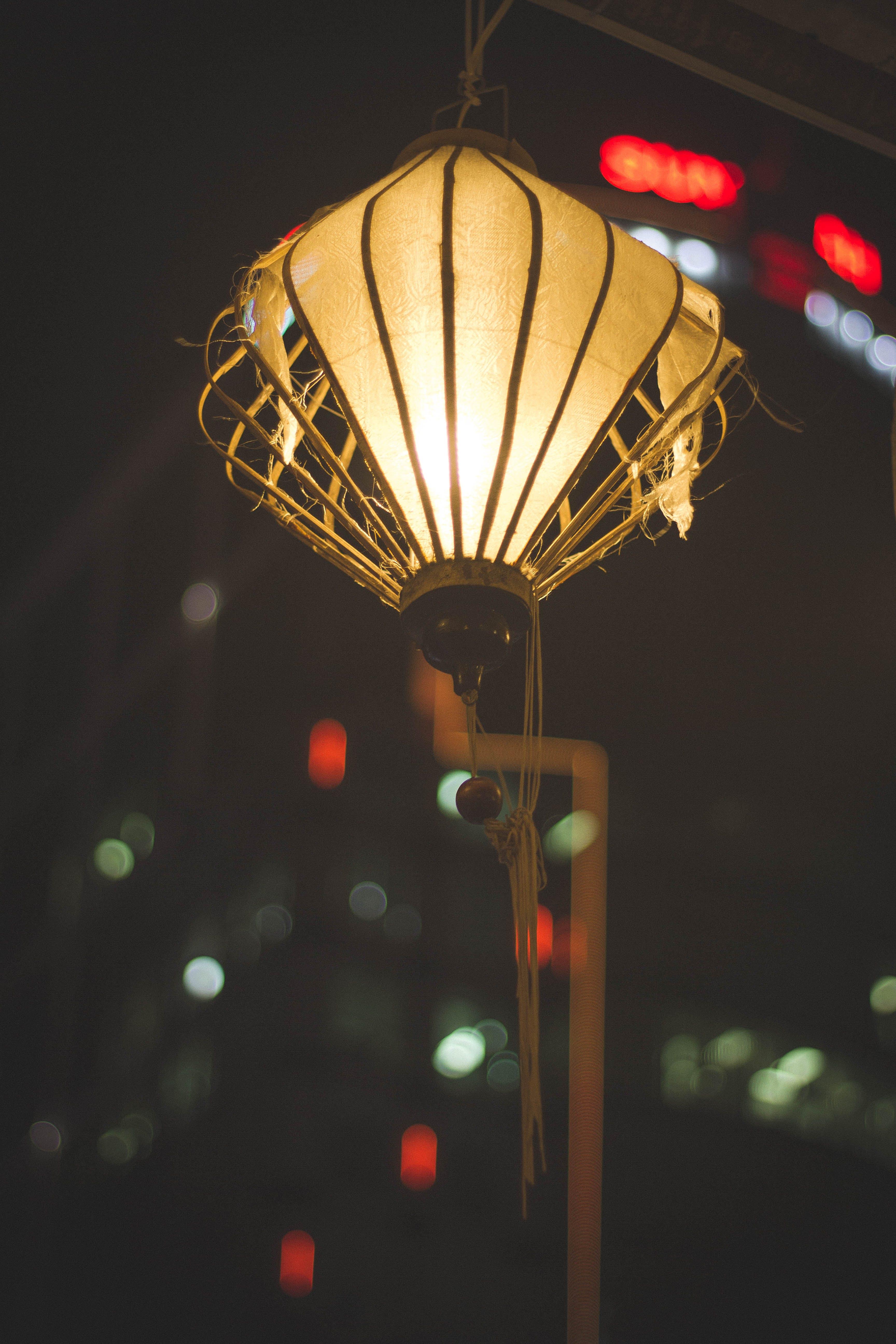 Photos gratuites de lanscap, lanternes, nuit, tour