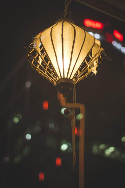 Gratis lagerfoto af by, lanscap, lanterner, nat