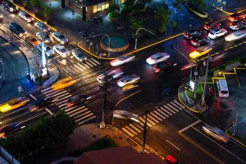 Free stock photo of busy, cars, city, night