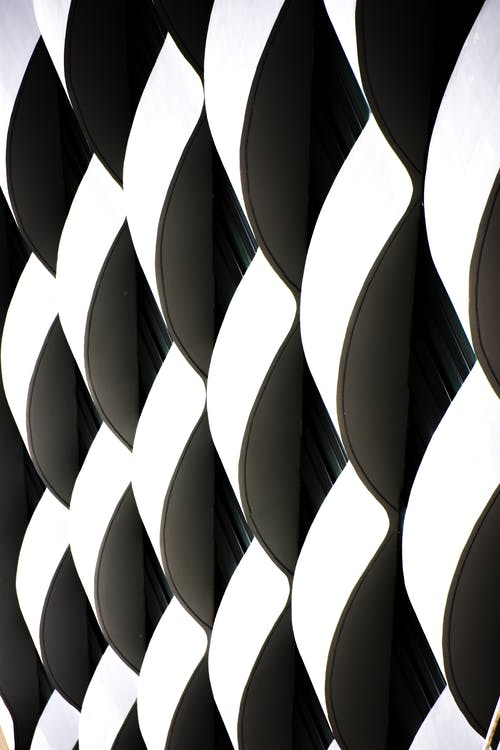 Black and White Checked Textile