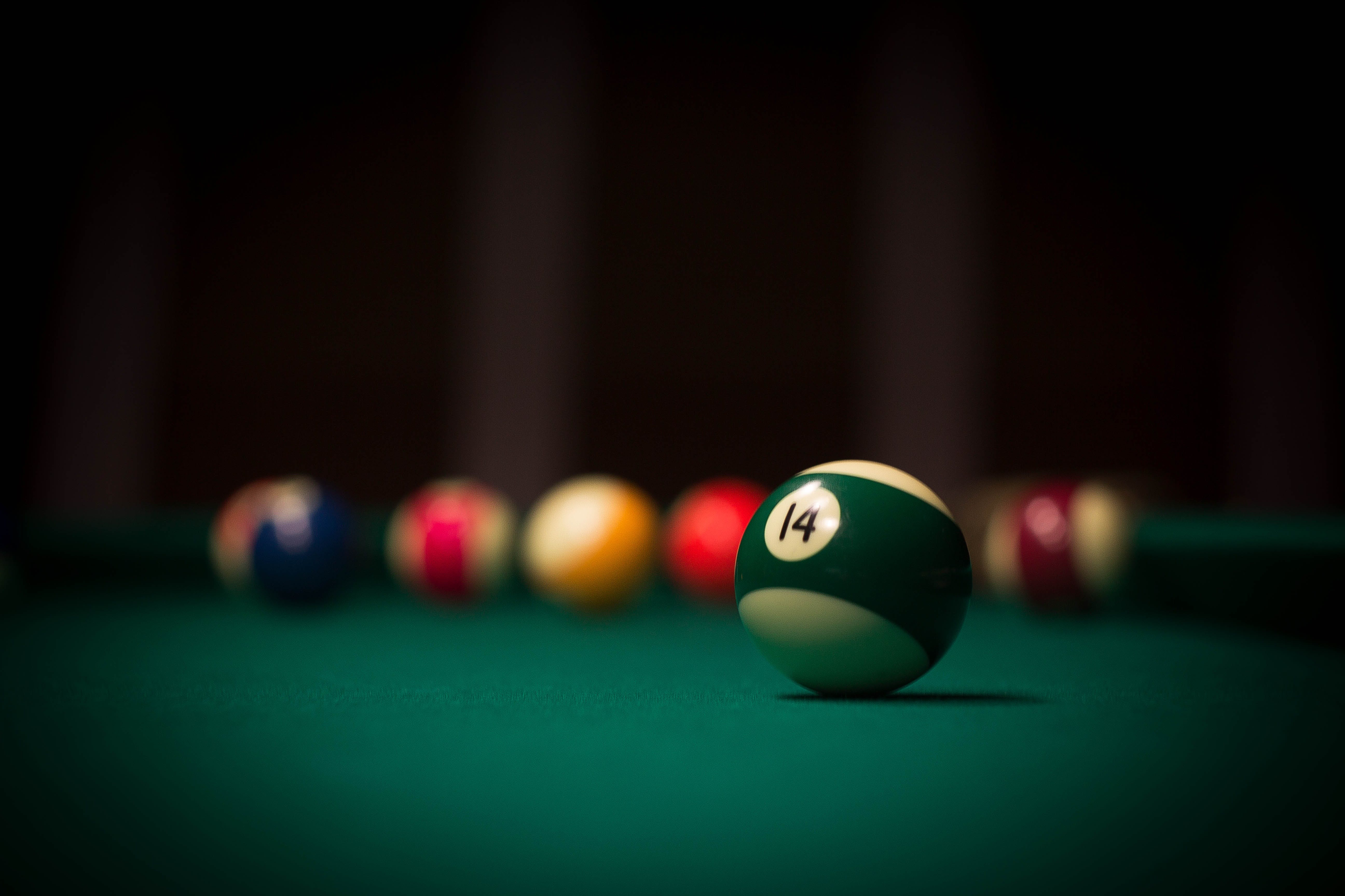 Free stock photo of ball, cue, pool table
