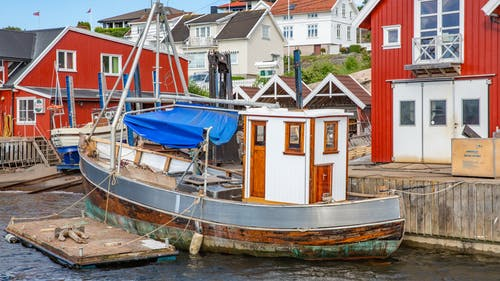 Free stock photo of fishing boat, wooden boat