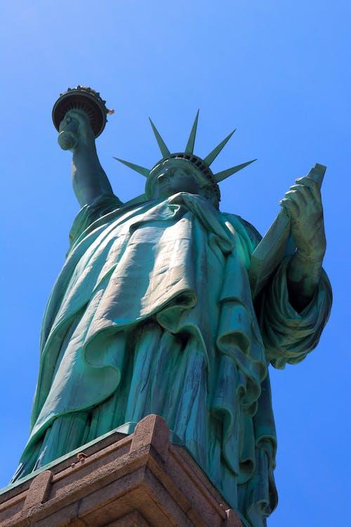 Fotobanka sbezplatnými fotkami na tému mesto New York, slobodný ostrov, Socha slobody