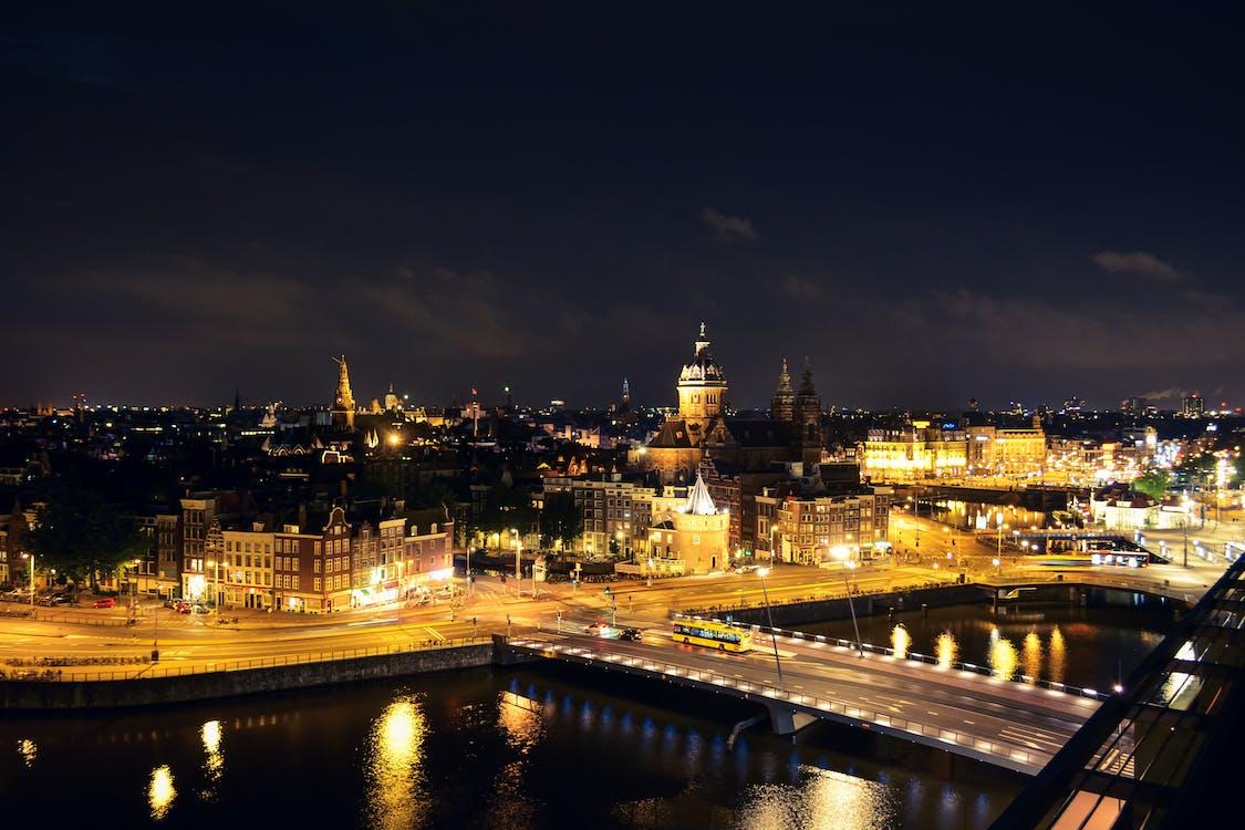 Photo of Amsterdam Cityscape at Night